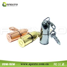 Chinese Manufacturer Metal Material 4gb bullet usb flash drive for Army Day