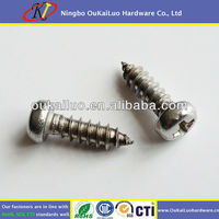 "Wholesale DIN 7981 Self tapping screw #8x1/2"", Cross recessed pan head, 304 Stainless steel"