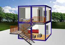20ft house container/ 2 storey house design/ Economical prefabricated house
