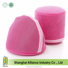 Pink Small Polyester Mesh Lingerie Laundry Bag