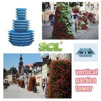 vertical garden modular planting flower tower