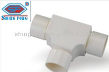 PVC Conduit Pipe Accessories Tee With Cover