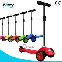 Fasy Kids indoor/outdoor kick light up scooter for hot sale