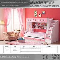NEW ARRIVAL HOT SALE KIDS BUNK BED WITH LADDER, AMERICAN STYLE LOFT BED FOR CHILD BEDROOM FURNITURE SET