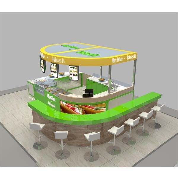 Produce Mall Indoor Food Kiosk Of Bubble Tea For Sale