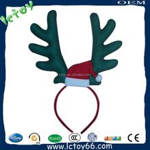 Christmas Plush Deer Horn Head Hoop