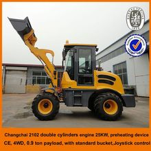 high quality with resonable price pitchfork wheel loader 900kg