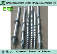 Galvanized ground screw pole anchor for solar system
