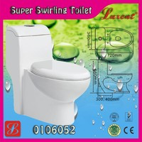 Practical pottery siphonic 1 piece Toilet