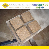 G682 yellow granite cube stone paver