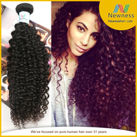 Natural Looking unprocessed chemical free 100% human hair extension nature girl hair weave