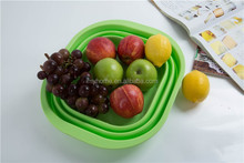 Food grade collapsible silicone bowls small salad bowl containers