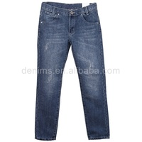 5488-G1 young man enzyme wash industrial cotton used jeans for sale