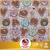 Yarn dyed polyester cotton jacquard bear and cat cartoon school bag fabric