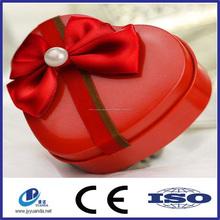 kalp şeklinde düğün şeker toptan özel teneke kutu ambalaj