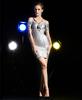 2014 Mexico Fashion Silver Bodycon Dress Sexy Lady Bandage Dress