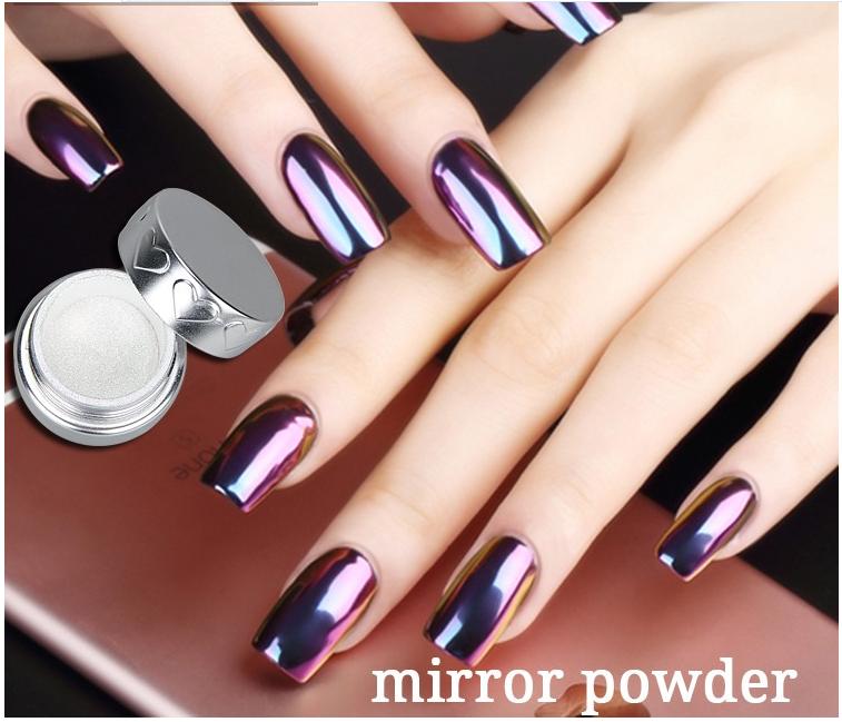 Prefessional Magic Metallic Effect Powder Acrylic Nail Mirror Powder ...