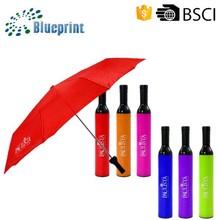 new arrival rain sun windroof bottle shape cap deco umbrella for sale