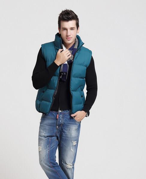 Бесплатная shippin! Новая зимняя мужская повседневная мода любителей жилет, жилет мужчины