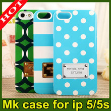 Mobile phone bag for Michael Kors MK Case Cover for iPhone 5 iphone 5S full protector shockproof case for apple iphone 5 5g