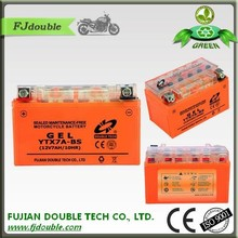 High quality agm motorcycle battery 12v 7ah price ytx7a-bs