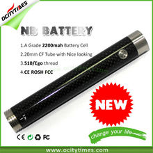 2014 Ocitytimes 2200mah NB-Twist Battery VAPOR MOD EVOD TWIST BATTERY VAPOR WHOLESALE With HGB A Grade Battery Cell and STW PCB