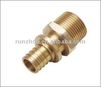 Brass pipe fitting nipple