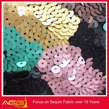 Sequins Full Over on Nylon Stretch Mesh 100% polyester wedding China Manufacturer decoration things