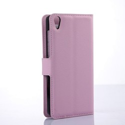 Lychee PU Leather Wallet Case for Lenovo S850