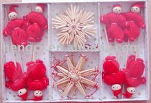 handmade straw christmas Ornaments(00060)