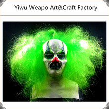 2015 Halloween horror mask masquerade party mask cheap green feather clown mask