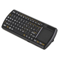 2015 New Qwerty USB Touch Mouse 2.4G Wireless Mini Keyboard With Laser Pointer