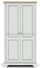 White wooden 2 Door Wardrobe