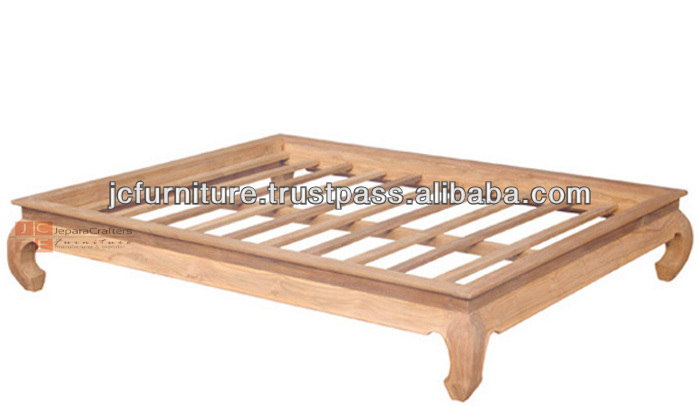 Bedroom Furniture Solid Teak Bed Opium Frame Wood Bed Indonesia Buy Bed Frame Teak Opium Bed