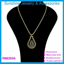 Water drop shaped pendant necklace, resin necklace