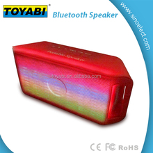 Hi-Fi Portable Wireless Stereo Speaker with LED Visual Modes and Build-in Microphone Support Hands-free Function