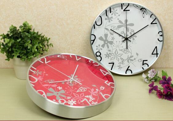 12 polegada m tal d cor horloge murale d coratif horloge for Horloge murale 3 cadrans
