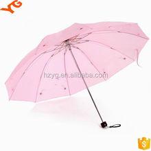unique umbrella 21 inches 8 ribs 3 folding lotus sun umbrella