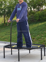 Hexagon bungee trampoline with handle