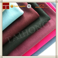 polyester cotton 16*12 108*56 dyed peach twill fabrics for clothing