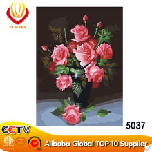 2015 DIY Wall Picture canvas oil painting flowers