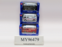 Die cast toys pull back 1:40 scale Ambulances toys , matal fire engines toys, Alloy police cars toys