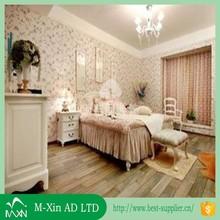 Guangzhou mingxin advertisemen matériau beau papier peint pour chambre murs