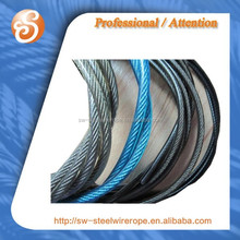 7x7 steel wire with colored nylon coated.4.5mm-6.5mm pvc