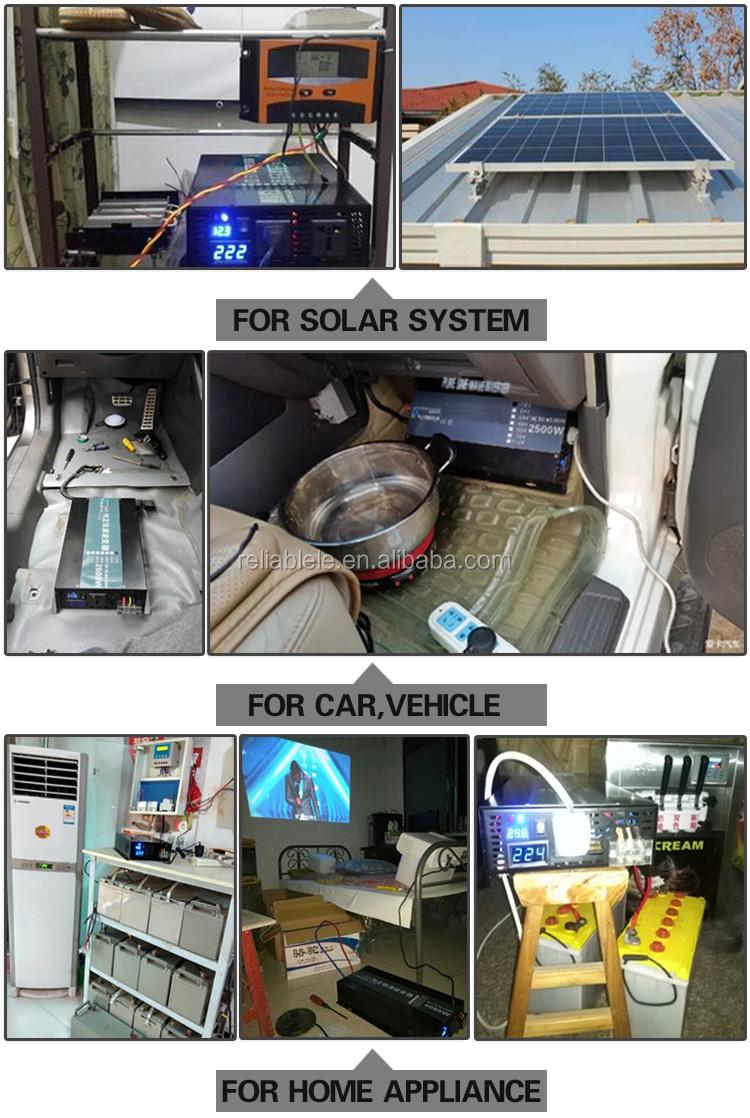 BEST SELLER FABRICANTE ORIGINAL DC12/24/48/96/110 V Entrada AC 110/220 V 3000 W Onda Senoidal Pura Inversor Solar