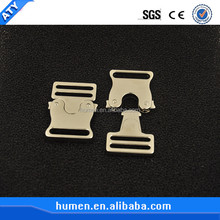 Lightweight gold metal side release buckles for garment