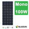 Bluesun China made factory supply TUV CE ISO qualified monocrystalline silicon 100w pv solar panel pump