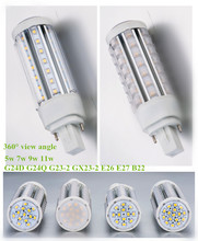 360 deg Vertical mount LED PL replacement lamps G24 G23