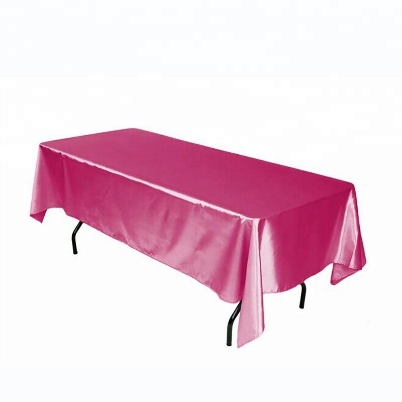 Table de cuisine Couverture Polyester Satin Table Tissu Rose Rectangle Pour Le Mariage