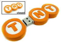 Logo Shaped USB tnt promotion key, TNT Truck USB Stick 8Gb, Custom tnt logo drive flash 4gb gifts premiums memory